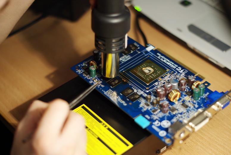 Видеокарта для ноутбука ремонт своими руками
